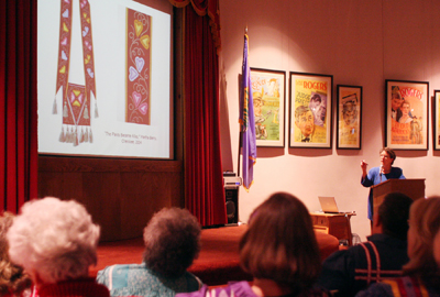 Martha Berry - RCCA Lecture 2009. Photo courtesy of Will Chavez, Cherokee Phoenix.